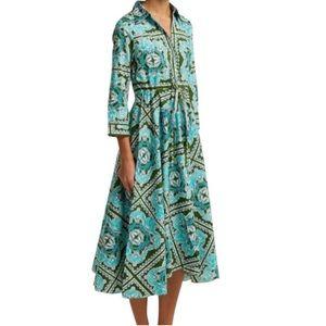 Le Sirenuse Lucy Dress Mid-length Aqua Green